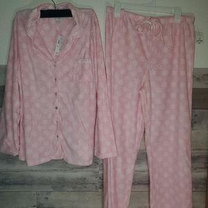 Aria North Fleece Pajama Size large 2 piec…